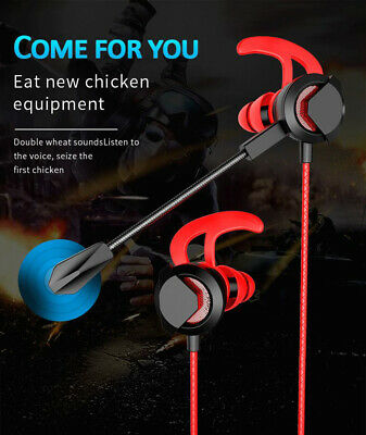 Gaming Headphone Stereo Super Bass HIFI Headset Wired In Ear Earphones With Mic