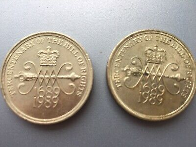Bill Of rights £2 Coin X 2