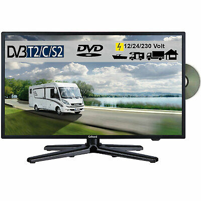 Gelhard GTV-2082 LED 20 Zoll Wide Screen TV DVD DVB/S/S2/T2/C 12/24/230 Volt