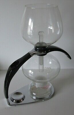 Cona Coffee Maker Ctm 0.85 Litre Vintage Pre Owned  With Refurb Lamp