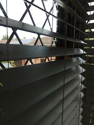 Faux Wood Venetian Blinds - Made to Measure - White, Ivory, Cream, Grey