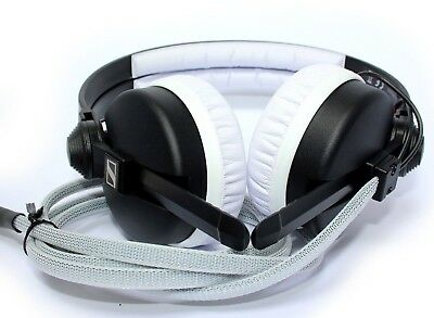 CustomCans Sennheiser HD25 with a twist of white DJ Headphones with 2yr warranty