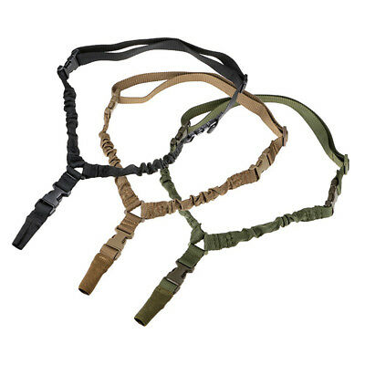 Tactical 1 Single Point Rifle Gun Sling Strap Bungee with Quick Release Buckle