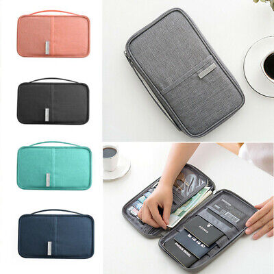 Family Travel Wallet Passport Holder RFID Blocking Document Organizer Bag Hot