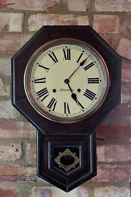"Antique American ""Ansonia"" Mahogany Case Striking Wall Clock"