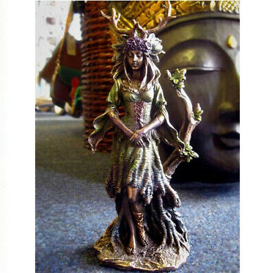 LADY OF THE FOREST GODDESS STATUE Figure ORNAMENT PAGAN Wiccan OCCULT CELTIC