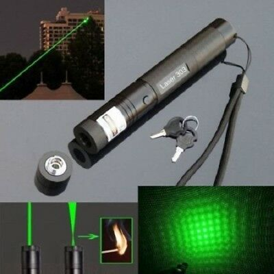Military Powerful 303 Green Laser Pointer Pen + 18650 Battery AU