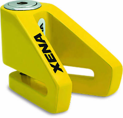 Xena X2Disc Lock - 14mm pin, yellow  Motorcycle, Scooters, e-Bikes