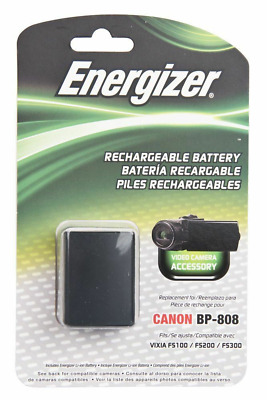 Energizer Canon BP-808 Replacement Li-Ion Recheargeable Camera Battery