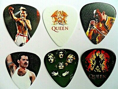 Stunning set of Six Freddie Mercury QUEEN  Guitar .71 mm  Picks  Double Sided
