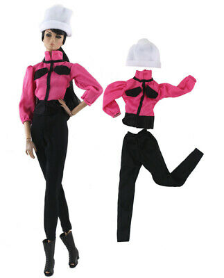 3in1 Set Fashion Outfit Top+pants+hat for 11.5 in. Doll d09