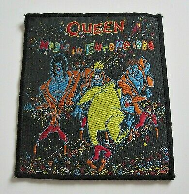 QUEEN : Magic In Europe 1986 A Kind Of Magic Tour Official Sew-On Patch Badge