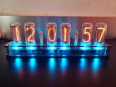 IN-18 Nixie Clock - Assembled - 6 NOS Tubes - Wireless GPS / Temp System