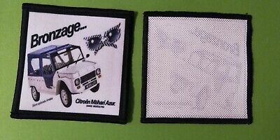 A608 PATCH ECUSSON CITROEN FOND BLANC TYPE MEHARI 8,6*7 CM