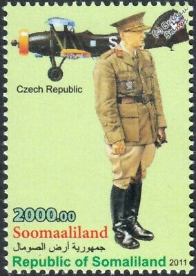 WWII Czech Army Minister of Defence Uniform Stamp / Letov S.328 Aircraft