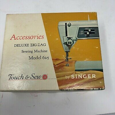 Vintage Singer Sewing Machine Accessories Model 625 Deluxe Zig Zag Touch Sew