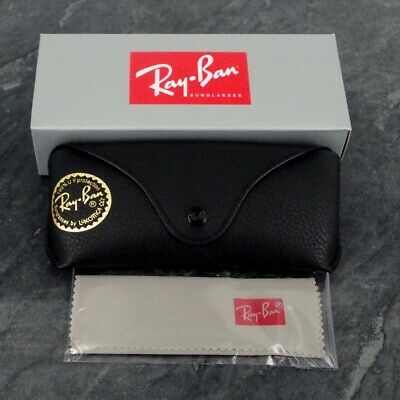 Ray-Ban Sunglasses Black Case only with grey box and cleaning cloth