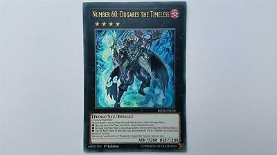 """YUGIOH!! """"Number 60: Dugares the Timeless"""" BLHR-EN028! Ultra Rare! NM! 1. Ed!"""