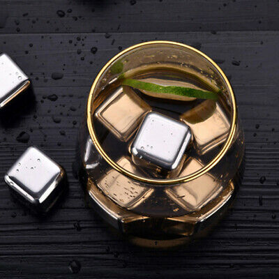 Stainless Steel Ice Cubes Whiskey Red Wine Summer Iced Drink.