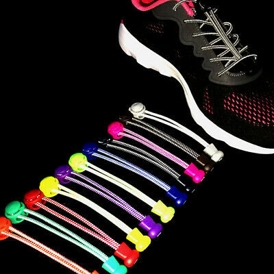 1 Pair Reflective One Pair Elastic No Tie Shoe Laces Lock Lace for Sneakers.