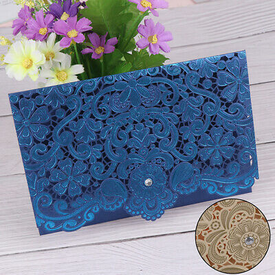 1pcs DIY Wedding Invitation Card Delicate Carved floral Pattern party favors.