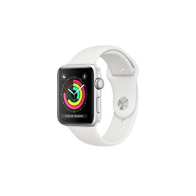AppleWatch Series3 GPS 38mm Silver Aluminium Case with White Sport Ba MTEY2B/A