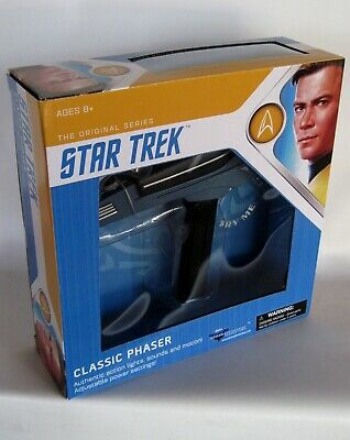 Star Trek Original Series Classic Phaser w/Lights Sounds & Motion MINT in Box!