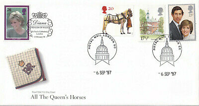 (31641) GB FDC Princess Diana Day of Funeral DOUBLE DATED London 1997 1998