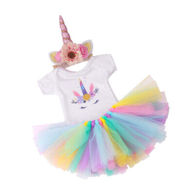 Cute American Doll Unicorn Outfit Fits 18 Inch Girl Dolls Clothing Dress up