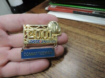 Houston Livestock Show and Rodeo committeeman pin 2001