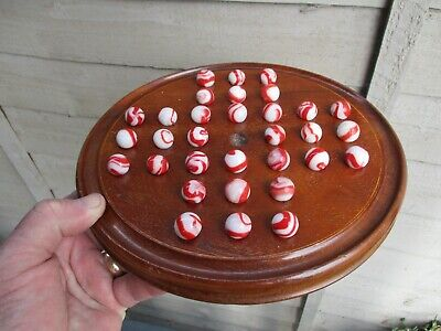 An Edwardian Mahogany Solitaire Board Game c1900/10