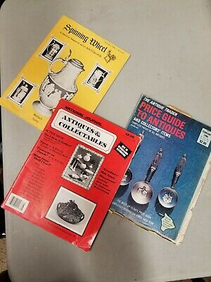 The Antique trader magazine, Spinning Wheel, Bottles, collector lot guides 5