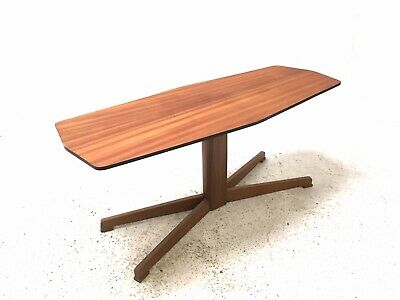 Vintage Retro Mid Century Danish Era 1960s Teak Modernist Pedestal Coffee Table