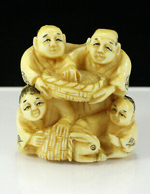 Antique Japanese Netsuke Signed. Meiji Period(1868-1912). With Certificate.