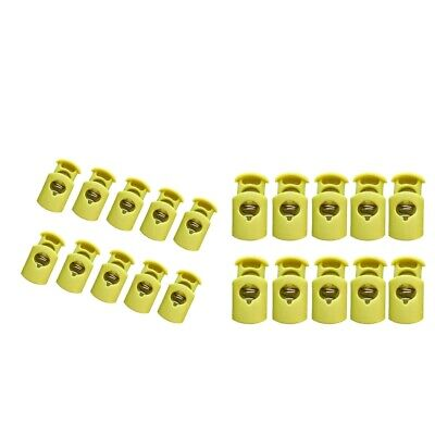 20pcs Plastic Spring Cylinder Barrel Cord Lock Stoppers Toggle Drawstring