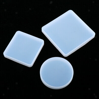 3 silicone mold round/square coaster cup mat tray mould resin casting epoxy