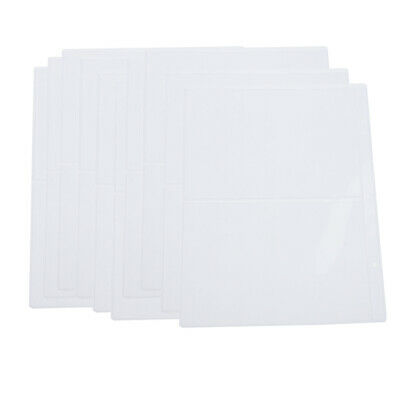 10x 2-pocket Banknote Currency Tickets Collection Album Paper Pocket Clear