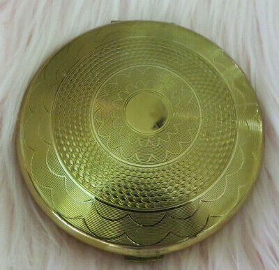 VINTAGE KIUG OF LONDON 1950-60 GOLD PLATED SERIES COMPLETE w/PUFF & SOME POWDER