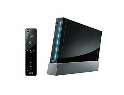 RVL-101 Nintendo Wii Console Black with Nunchuk and Wii-mote Basic