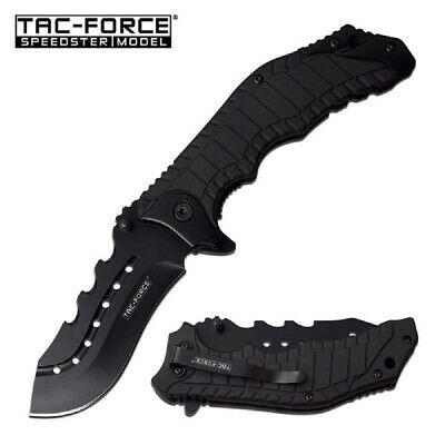 Black Tactical Survival Assisted Opening Knife by Tac Force - FAST SHIPPING!