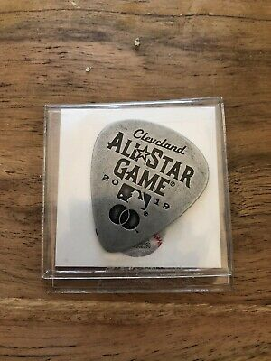 2019 MLB All Star Game Guitar Pick Cleveland Indians SGA ASG TROUT YELICH