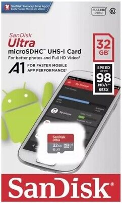 SanDisk 32GB Ultra Micro SD Class 10 98MB/s SDSQUAR-032G Memory Card For Android