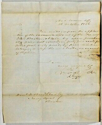 Commodore John Rodgers  - Stampless Letter Signed 1836