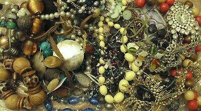 JobLot of tangled/broken costume jewellery different styles great lot 9-5-j2
