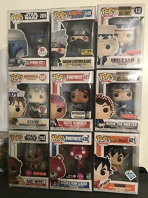 Funko Pop Mystery Box. Guaranteed Exclusive. All Come With Pop Protectors
