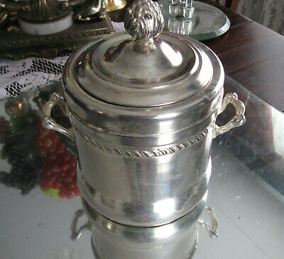 Most Rare Antique Victorian Silver Plate Crock  Champagne/Wine Ice Bucket