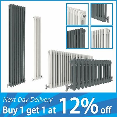 Traditional Horizontal Vertical 2 3 Column Radiator Cast Iron Style Vintage Rads