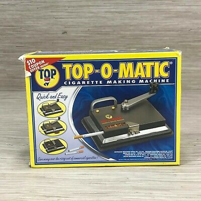 Top-O-Matic Cigarette Rolling Making Machine Kings or 100mm Heavy Duty Metal