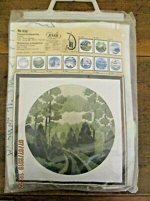 BNIP BMB LONGSTITCH KIT No. 635 - WALL PICTURE OF TREES - UNUSED~