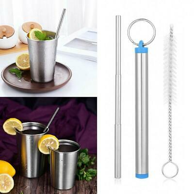 Portable Telescopic Drinking Straw Stainless Steel Metal Travel Straw Reusable